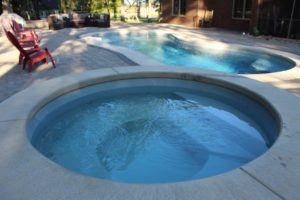 Leisure Pools Eclipse 35 Silver Grey w Round Sorrent Spa 2019 0816 3